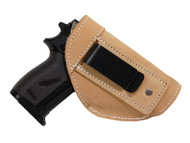 Natural Tan Leather Inside the Waistband Holster for Mini/Pocket 22 25 32 380 Pistols