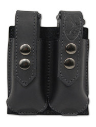 Black Leather Double Magazine Pouch
