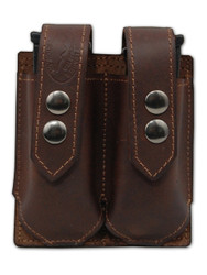 Brown Leather Double Magazine Pouch