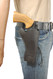 """Black Leather 49er Western Style Holster for 4"""" Revolvers"""