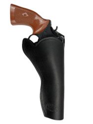 "New Black Leather Cross Draw Gun Holster for 6"" Revolvers (#CR6BL)"