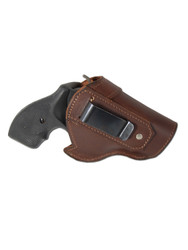 "Brown Leather Inside the Waistband Holster for 2"", Snub Nose .38 .357 Revolvers"