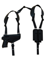 Ambidextrous Shoulder Holster with Magazine Pouch for Full Size 9mm 40 45 Pistols