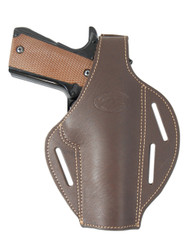 Brown Leather Pancake Holster for Full Size 9mm 40 45 Pistols
