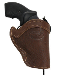 """Brown Leather Western Holster for 2"""" Snub Nose 22 38 357 41 44 Revolvers"""