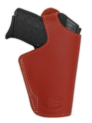 Burgundy Leather Thumb-break OWB Holster for 380, Ultra-Compact 9mm 40 45 Pistols