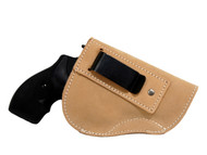 "Natural Tan Leather Inside the Waistband Holster for 2"", Snub Nose .38 .357 Revolvers"