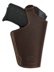 Brown Leather Thumb-break OWB Holster for 380, Ultra-Compact 9mm 40 45 Pistols