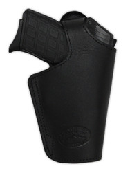 Black Leather Thumb-break OWB Holster for 380, Ultra-Compact 9mm 40 45 Pistols