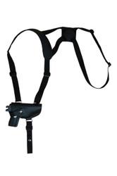 Black Leather Horizontal Shoulder Holster for Mini/Pocket 22 25 380 Pistols