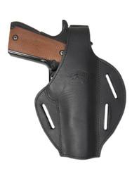 Black Leather Pancake Holster for Full Size 9mm 40 45 Pistols