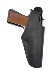 Black Leather OWB Holster for Full Size 9mm 40 45 Pistols