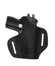 New Black Leather Pancake Gun Holster for Mini/Pocket 22 25 32 380 Pistols (#57sBL)