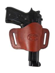 Burgundy Leather Quick Slide Holster for Full Size 9mm 40 45 Pistols