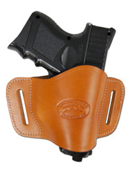 Tan Leather Quick Slide Holster for Compact Sub-Compact 9mm 40 45 Pistols