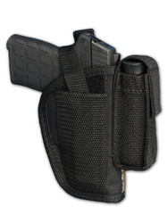 OWB Holster with Magazine Pouch for .380, Ultra-Compact 9mm 40 45 Pistols