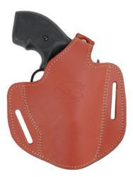 "Burgundy Leather Pancake Holster for .22 .38 .357 2"" Revolvers"