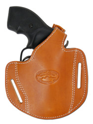 "Tan Leather Pancake Holster for .22 .38 .357 2"" Revolvers"