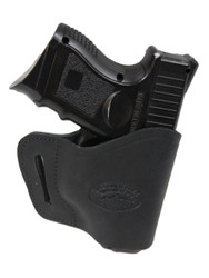 Black Leather Yaqui Holster for Compact Sub-Compact 9mm 40 45 Pistols