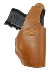 Tan Leather OWB Holster for Compact Sub-Compact 9mm 40 45 Pistols