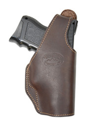 Brown Leather OWB Holster for Compact Sub-Compact 9mm 40 45 Pistols