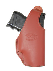 Burgundy Leather OWB Holster for Compact Sub-Compact 9mm 40 45 Pistols