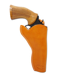 """Saddle Tan Leather Cross Draw Holster for 6"""" Revolvers"""