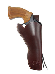 "Burgundy Leather 49er Western Style Holster for 6"" Revolvers"