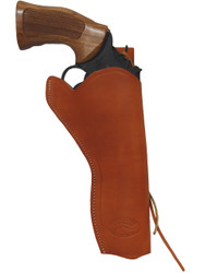 "Tan Leather 49er Western Style Holster for 6"" Revolvers"