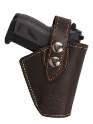 Brown Leather OWB Holster for Mini .22 .25 .32 .380 Pistols