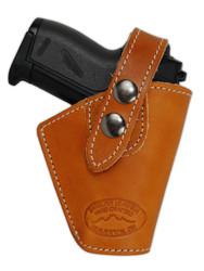 Saddle Tan Leather OWB Holster for Mini .22 .25 .32 .380 Pistols