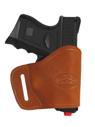 Saddle Tan Leather Yaqui Holster for Compact Sub-Compact 9mm 40 45 Pistols