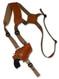 "Saddle Tan Leather Horizontal Shoulder Holster for 2"" Snub Nose Revolvers"