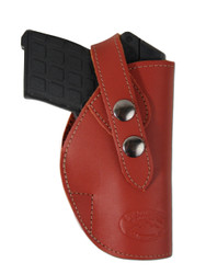 Burgundy Leather OWB Holster for .380, Ultra-Compact 9mm 40 45 Pistols