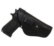 Black Leather Inside the Waistband Holster for Full Size 9mm 40 45 Pistols