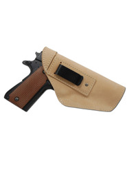 Natural Tan Leather Inside the Waistband Holster for Full Size 9mm 40 45 Pistols
