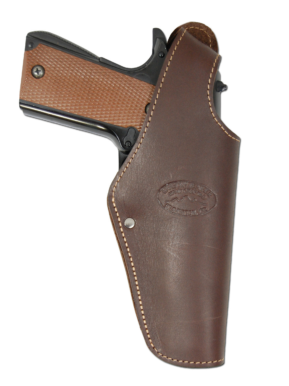 Holsters, Belts & Pouches New Barsony Brown Leather Flap Gun Holster
