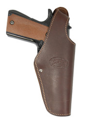 Brown Leather OWB Holster for Full Size 9mm 40 45 Pistols