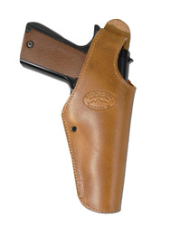 Saddle Tan Leather OWB Holster for Full Size 9mm 40 45 Pistols