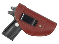 Burgundy Leather Inside the Waistband Holster for 380, Ultra Compact 9mm 40 45 Pistols