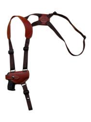 Burgundy Leather Horizontal Shoulder Holster for Mini/Pocket 22 25 380 Pistols