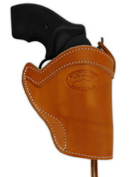 """Saddle Tan Leather Western Holster for 2"""" Snub Nose 22 38 357 41 44 Revolvers"""