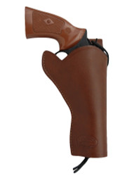 "Brown Leather 49er Western Style Holster for 4"" Revolvers"