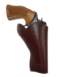 "Burgundy Leather Cross Draw Holster for 4"" Revolvers"