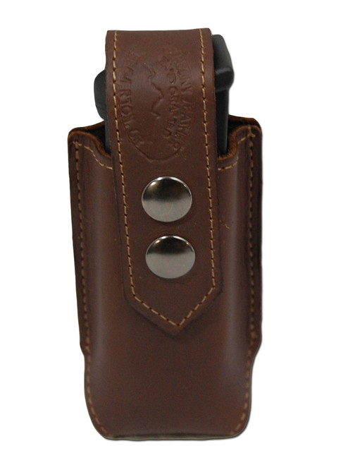Brown Leather Single Magazine Pouch