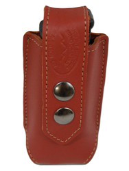 Burgundy Leather Single Magazine Pouch