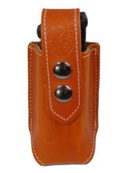 Saddle Tan Leather Single Magazine Pouch