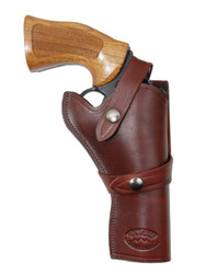 "Burgundy Leather Western Style Holster for 4"" Revolvers"