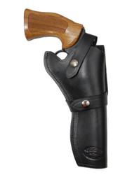 "Black Leather Western Style Holster for 6"" Revolvers"