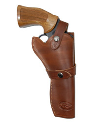 "Brown Leather Western Style Holster for 6"" Revolvers"